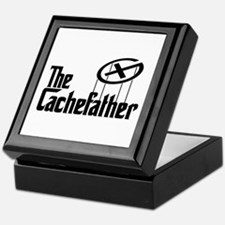 Geocaching THE CACHEFATHER black Keepsake Box
