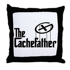 Geocaching THE CACHEFATHER black Throw Pillow