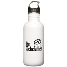 Geocaching THE CACHEFATHER black Water Bottle