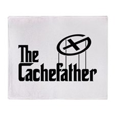 Geocaching THE CACHEFATHER black Throw Blanket