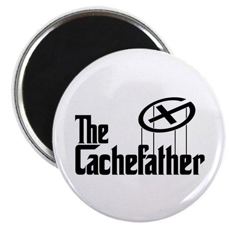 Geocaching THE CACHEFATHER black Magnet
