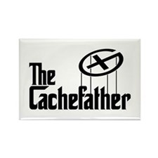 Geocaching THE CACHEFATHER black Rectangle Magnet
