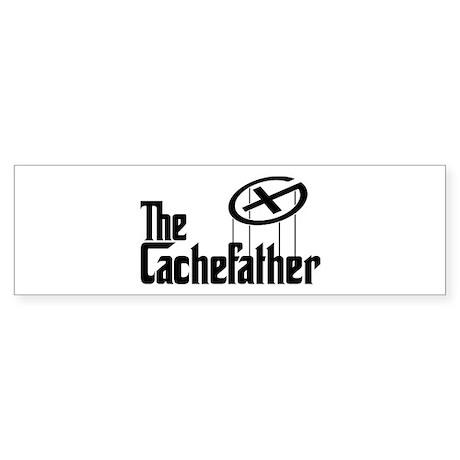 Geocaching THE CACHEFATHER black Sticker (Bumper)