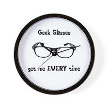 Geek Glasses Wall Clock
