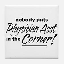 Physician Asst Nobody Corner Tile Coaster