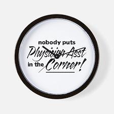 Physician Asst Nobody Corner Wall Clock