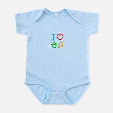 I Love House Music Infant Bodysuit