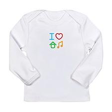 I Love House Music Long Sleeve Infant T-Shirt