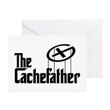 Geocaching THE CACHEFATHER bl Greeting Cards (Pk o