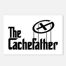 Geocaching THE CACHEFATHER bl Postcards (Package o