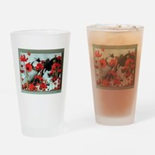 Audrey in Poppies Pint Glass