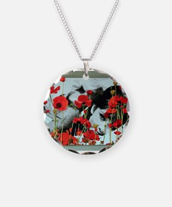 Audrey in Poppies Necklace