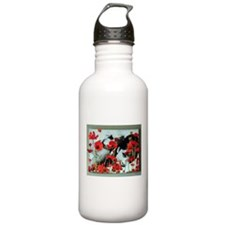 Audrey in Poppies Water Bottle