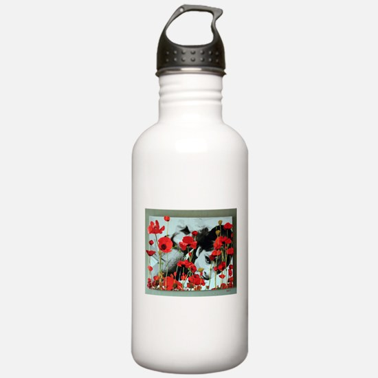 Audrey in Poppies Water Bottle