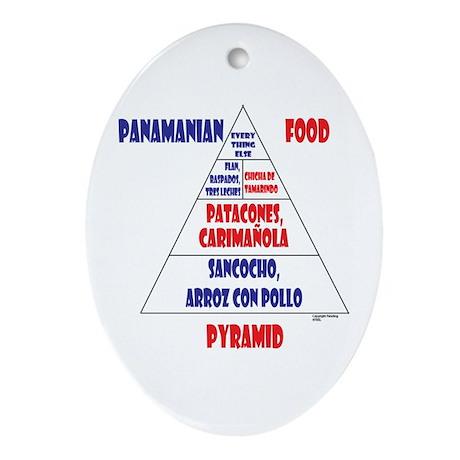 Panamanian Food Pyramid Ornament (Oval)