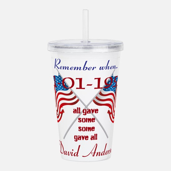 Personalized Honor a Veteran Acrylic Double-wall T