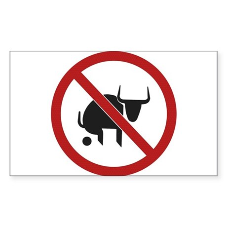 No Bull Sticker (Rectangle)