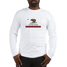 California Surfing Bear Flag Long Sleeve T-Shirt