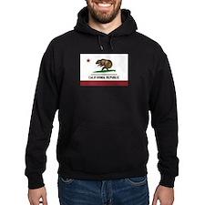 California Surfing Bear Flag Hoodie