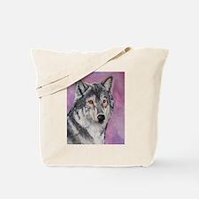 Purple Wolf Tote Bag