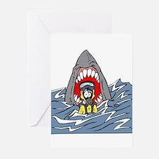 Cute Shark teeth Greeting Cards (Pk of 10)