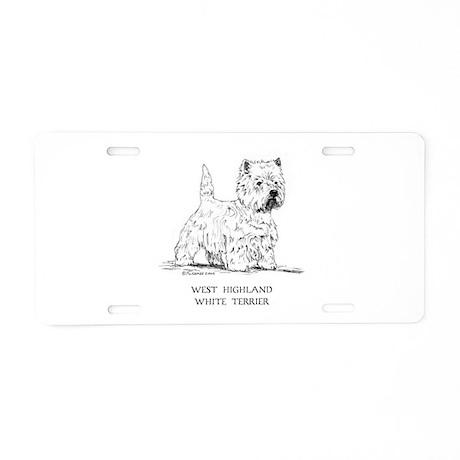 West Highland White Terrier Aluminum License Plate