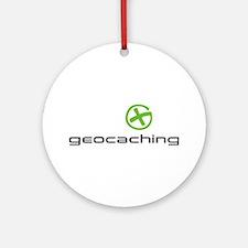 Geocaching Logo green Ornament (Round)