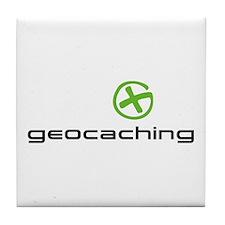 Geocaching Logo green Tile Coaster