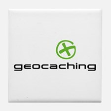Geocaching Logo green Tile Coaster