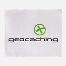 Geocaching Logo green Throw Blanket
