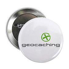 """Geocaching Logo green 2.25"""" Button"""