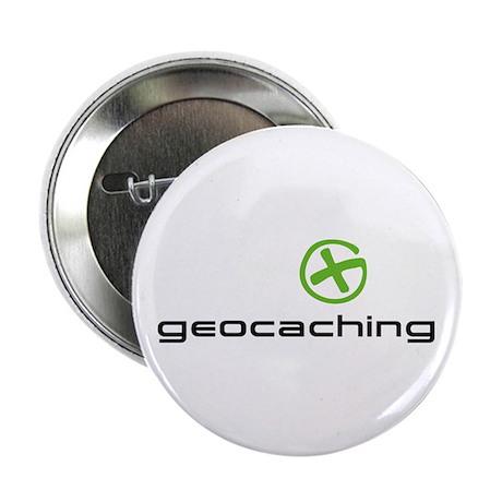 "Geocaching Logo green 2.25"" Button (10 pack)"