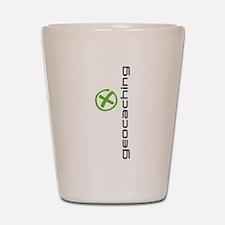 Geocaching Logo green Shot Glass