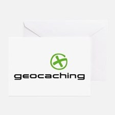 Geocaching Logo green Greeting Cards (Pk of 20)