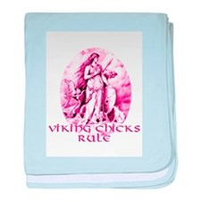 Viking Chicks Rule baby blanket