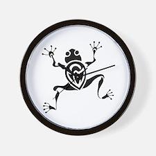 Tribal Frog Tattoo Wall Clock