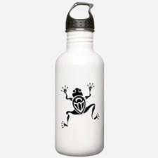 Tribal Frog Tattoo Water Bottle