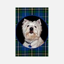 West Highland White Terrier Rectangle Magnet
