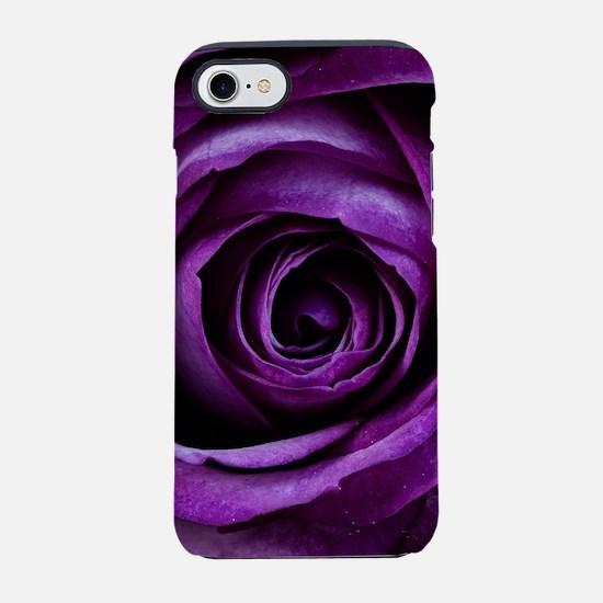 Purple Rose Flower iPhone 7 Tough Case