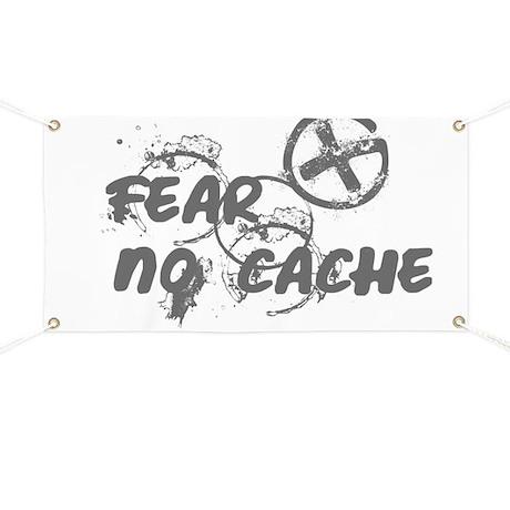 Geocaching NO FEAR gray Grunge Banner