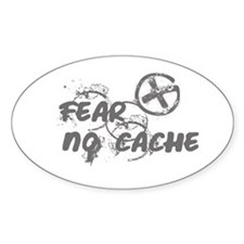 Geocaching NO FEAR gray Grunge Decal