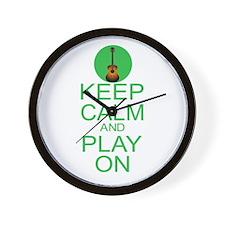 Keep Calm Play On (Guitar) Wall Clock