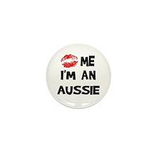 Kiss Me I'm An Aussie Mini Button (10 pack)