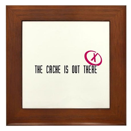 Geocaching - X-CACHE black Framed Tile
