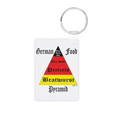German Food Pyramid Aluminum Photo Keychain