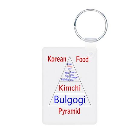 Korean Food Pyramid Aluminum Photo Keychain