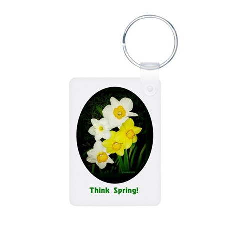 Daffodils Aluminum Photo Keychain