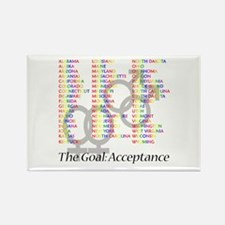 Gay Marriage Acceptance Rectangle Magnet
