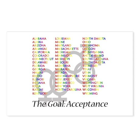 Gay Marriage Acceptance Postcards (Package of 8)