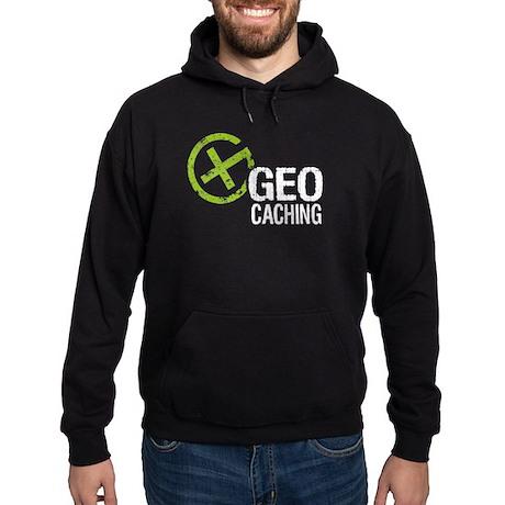 Geocaching Green Grunge Hoodie (dark)